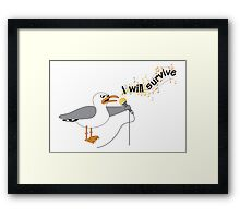 I Will Survive T-shirt Framed Print