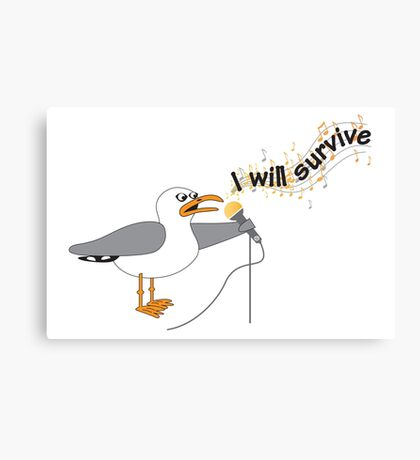 I Will Survive T-shirt Canvas Print