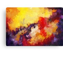 Abstract impressionist red yellow purple Canvas Print