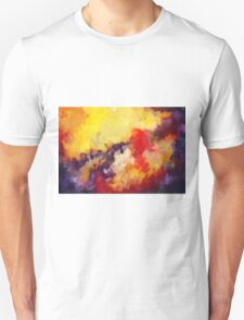 Abstract impressionist red yellow purple T-Shirt