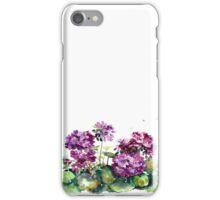 Blue primrose . Watercolor .  iPhone Case/Skin