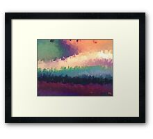 abstract expressionist landscape green Framed Print