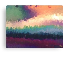 abstract expressionist landscape green Canvas Print