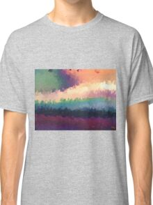 abstract expressionist landscape green Classic T-Shirt