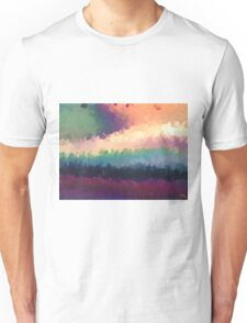 abstract expressionist landscape green Unisex T-Shirt