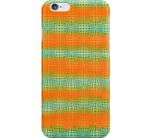 Hand-Painted Watercolor Abstract Melon Pattern Green Orange iPhone Case/Skin