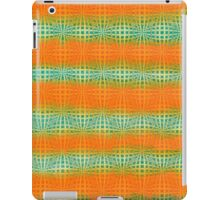 Hand-Painted Watercolor Abstract Melon Pattern Green Orange iPad Case/Skin