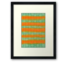 Hand-Painted Watercolor Abstract Melon Pattern Green Orange Framed Print