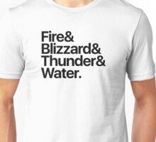 Final Fantasy Spells - Level 1 (black text) Unisex T-Shirt