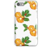 Oranges and holly iPhone Case/Skin