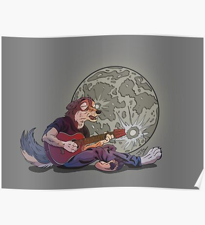 Howlin' at the Moon Poster