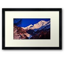 colorful sunset in the Valle Aurina Framed Print
