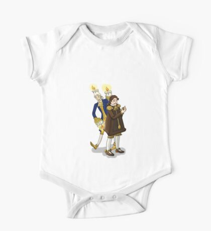 Lumière and Cogsworth One Piece - Short Sleeve