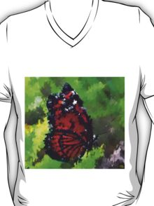 abstract butterfly insect flowers T-Shirt