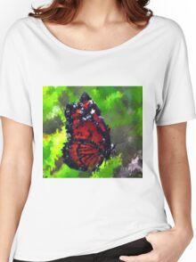 abstract butterfly insect flowers Women's Relaxed Fit T-Shirt