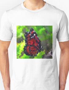 abstract butterfly insect flowers Unisex T-Shirt