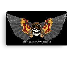 Brass phoenix banner large Canvas Print