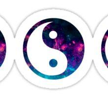 ying yang galaxy Sticker