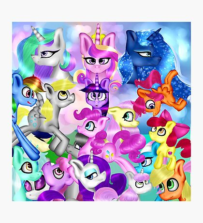 MLP Characters Photographic Print