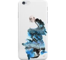 Black and Blue Ugly Man iPhone Case/Skin