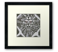 Among the metal ones a messenger has arrived - Roboticus  Framed Print