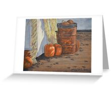 Pumpkins in the yard Greeting Card