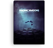 Imagine Dragons Album Morph-Blue Canvas Print
