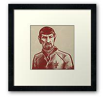 Mirror Spock Framed Print