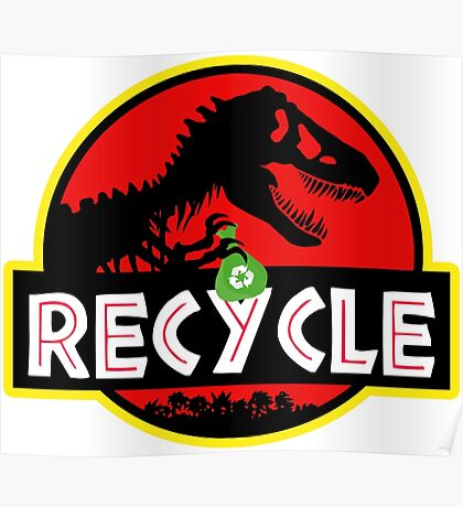 Green dinosaurs Poster