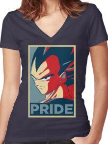 Vegeta Women's Fitted V-Neck T-Shirt