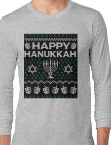Let's Get Lit Menora Candles Chanukah Hanukkah Shirt Long Sleeve T-Shirt