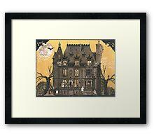 Moribund Manor - Haunted House Framed Print