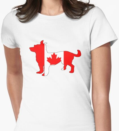 Canada Chihuahua Womens Fitted T-Shirt