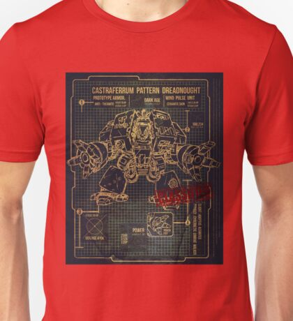 BLUEPRINT TEE - DREADNOUGHT 40K 1G Unisex T-Shirt