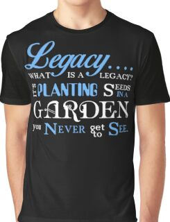Hamilton Musical Quote Legacy Graphic T-Shirt