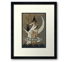 Bad Mood Moon Framed Print