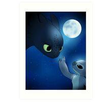 How to Train Stitch's Dragon Art Print