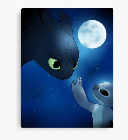 How to Train Stitch's Dragon Canvas Print