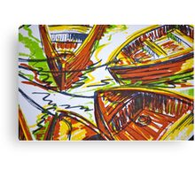 Commuter Boats Canvas Print
