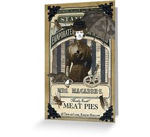 Mrs. Macabre's Meatpies Greeting Card