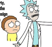 Rick and Morty - Graphic Design dimension by skyhimonkey