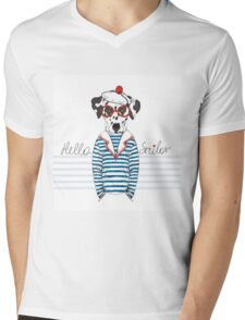 Hello Sailor Mens V-Neck T-Shirt