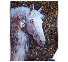 White Horse Beauty Poster