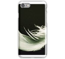 Black and white fine feather iPhone Case/Skin