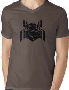 Spiderman Logo - Civil War (Black) Mens V-Neck T-Shirt