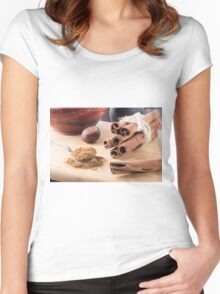 Ingredients for cooking in the kitchen Women's Fitted Scoop T-Shirt