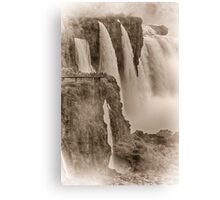 Iguaza Falls - No. 7 - Antique Sepia Canvas Print