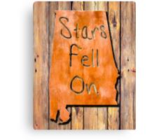The Stars Fell On Alabama Rustic Map Art Canvas Print