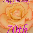Happy 70th Birthday Flower by martinspixs