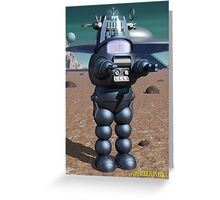 Forbidden Planet Robby Poster Greeting Card